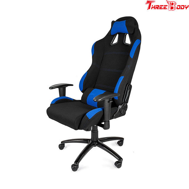 Light Weight  Leather Gaming Chair 180 Degrees Adjustable Seat Sturdy Metal Frame