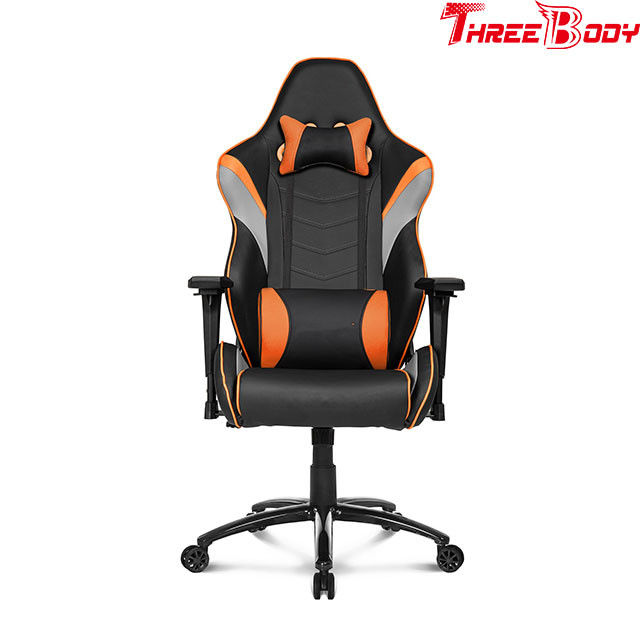 Custom PC Racing Gaming Chair 360 Degree Swivel Rotation Lumbar Support System